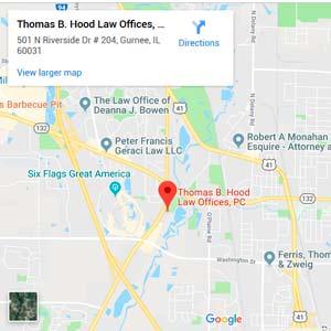 Hood Law PC map to office in Gurnee