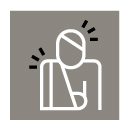 Hood law icon image of person injured